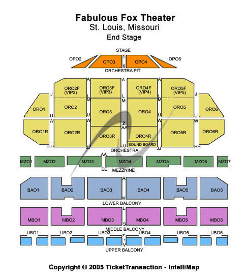 The Fabulous Fox Theatre St Louis Seating Chart Seating Charts Tickets